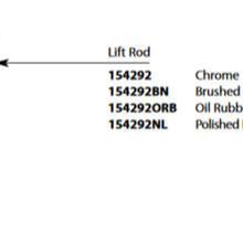 Weymouth Chrome Diverter Rod Kit