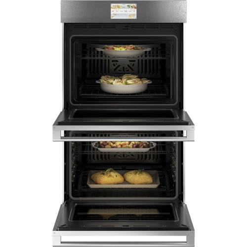 "Café 30"" Smart Double Wall Oven with Convection in Platinum Glass"