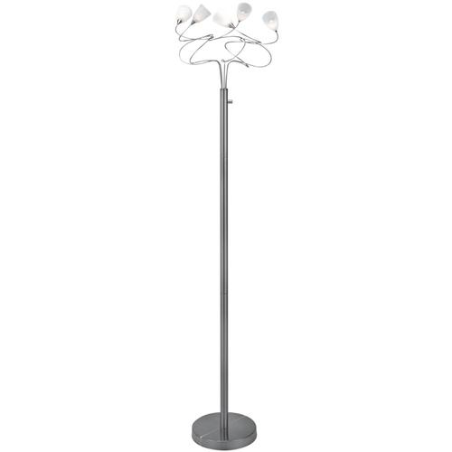 5-lite Floor Lamp,ps W/crackled Frost Glass,jc/g4 20wx5