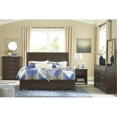 Darbry King Panel Bed With 2 Storage Drawers