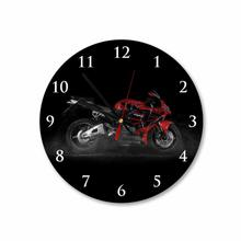Red Honda Bike Round Square Acrylic Wall Clock