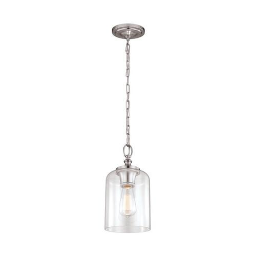Hounslow Clear Glass Mini Pendant Polished Nickel