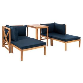 Ronson 5 PC Sectional Set - Natural / Navy