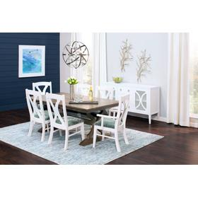 Hamptons Arm Chair, Fabric Seat