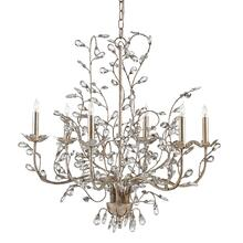 View Product - Crystal Bud Silver Medium Chandelier