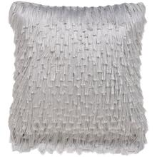 Cali Shag Pillow - Platinum