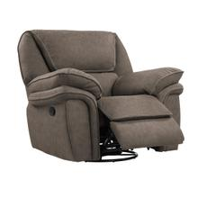 Allyn Swivel Glider Recliner Gray Taupe