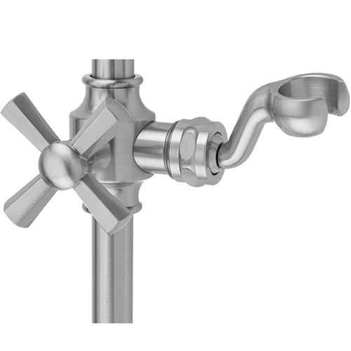 White - Replacement Fork Slider with Hex Cross Handle for Traditional Wall Bar