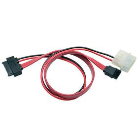 SATA to LP4 Power Cable Adapter - 7-Pin (Male) to LP4 (Female), 1 ft.