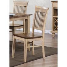 DLU-BR-C70-PW-2  Fancy Slat Dining Chair  Set of 2