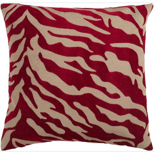 """Velvet Zebra JS-026 22"""" x 22"""" Pillow Shell with Down Insert"""