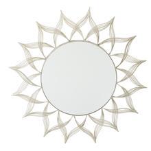 Matte Gold Metal Round Mirror