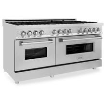 """See Details - ZLINE 60"""" 7.4 cu. ft. Dual Fuel Range with Gas Stove and Electric Oven in Stainless Steel (RA60) [Color: Stainless Steel]"""