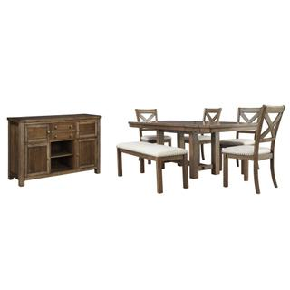 See Details - Dining Table and 4 Chairs and Bench With Storage