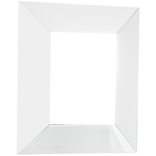 "24"" x 28-1/4"" Five-piece all glass mirror with wide bevel frame."
