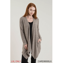 Heathered Pocket Cardigan - L/XL (2 pc. ppk.)