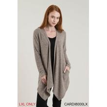 Heathered Pocket Cardigan - L/XL (2 pc. ppk.)