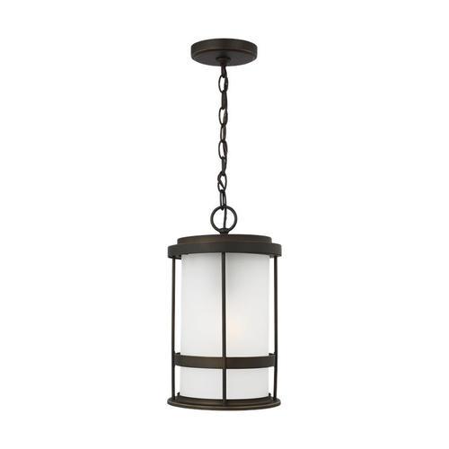 Wilburn One Light Outdoor Pendant Lantern Antique Bronze