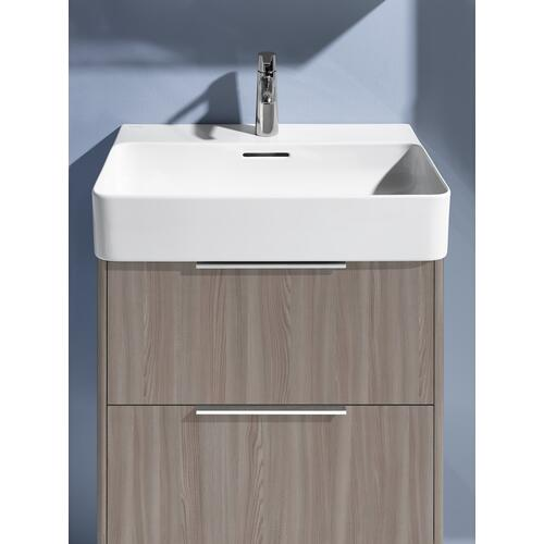 Traffic Grey Vanity unit, 2 drawers, incl. drawer organizer, matching washbasin 810283
