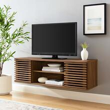 "Render 46"" Wall-Mount Media Console TV Stand in Walnut"