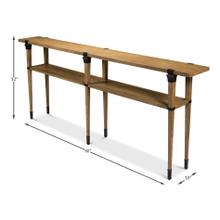 See Details - Boulevard Console Table, Heather Grey