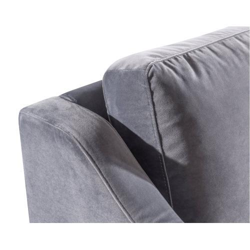 Tov Furniture - Milan Grey Velvet Sofa
