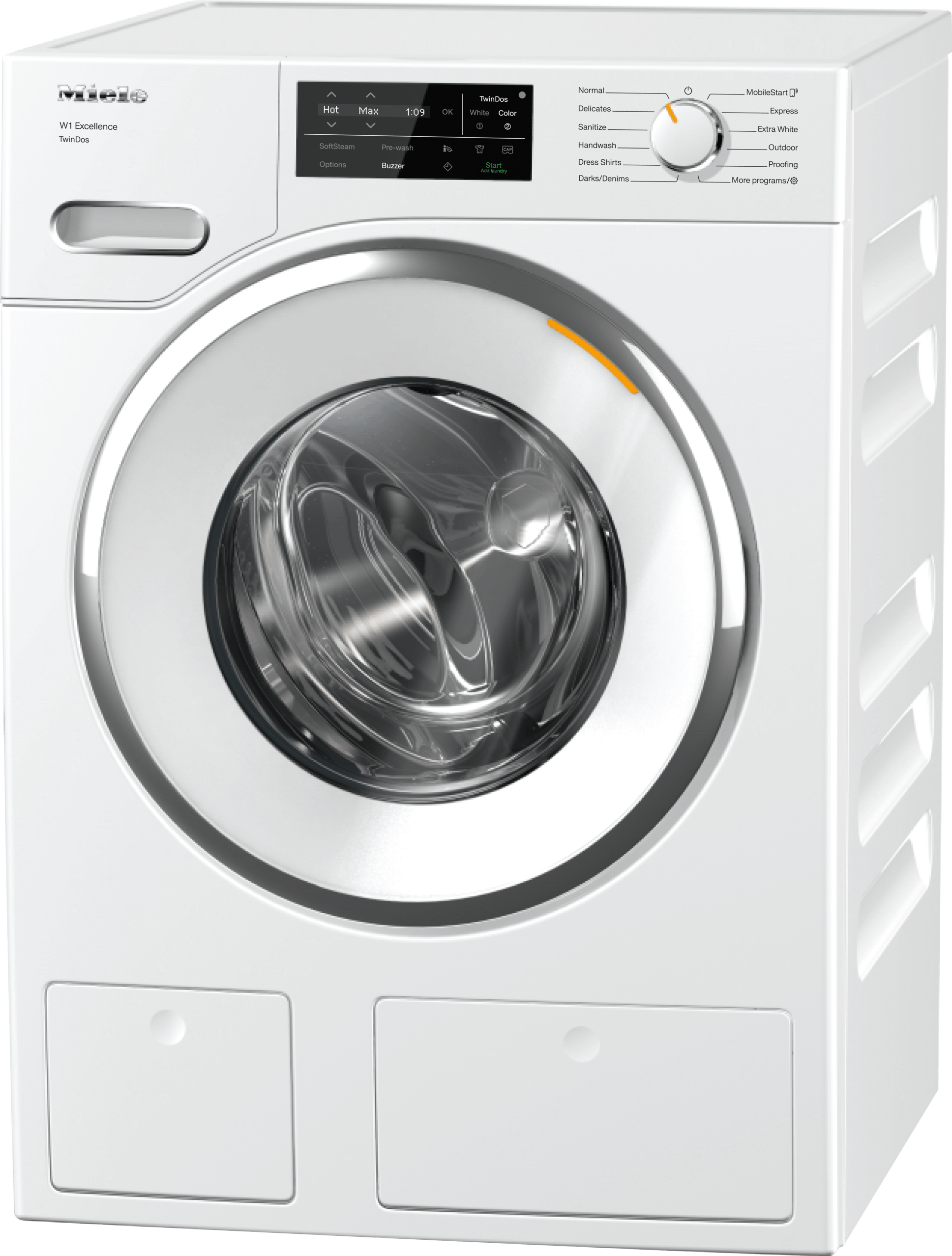 WXF 660 WCS TDos - W1 Front-loading washing machine with TwinDos and Miele@home for smart laundry care and maximum convenience.