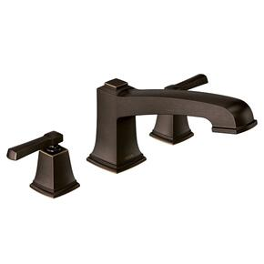 Boardwalk mediterranean bronze two-handle roman tub faucet