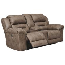 CLEARANCE Stoneland Power Reclining Loveseat With Console - Fossil