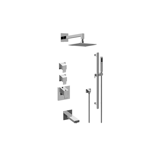 Qubic M-Series Thermostatic Shower System - Tub and Shower with Handshower