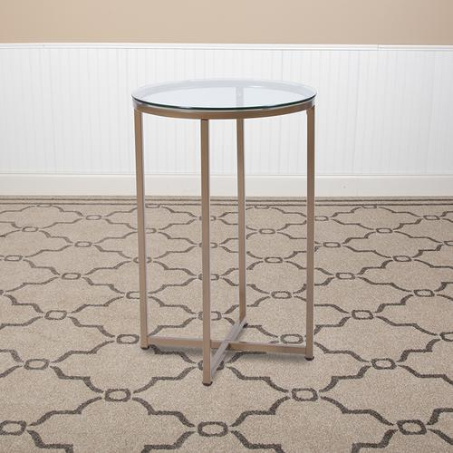 Flash Furniture - Greenwich Collection Glass End Table with Matte Gold Frame