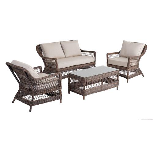 Sandra 4 pc Love Seat Set Sunbrella Cushion Inclusive
