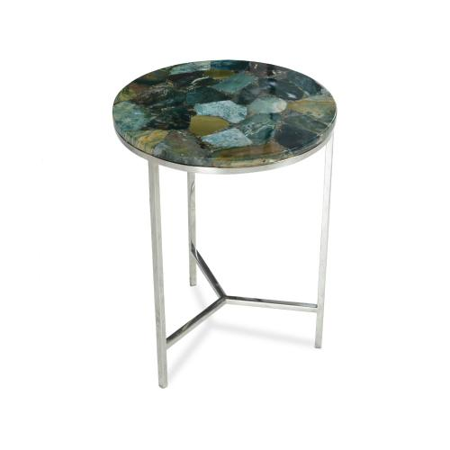 Foster Green Jasper Top Chairside Table