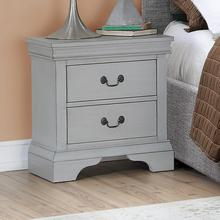 Louis Night Stand, Grey