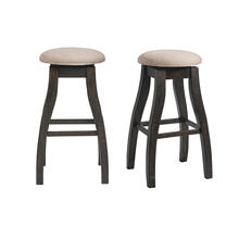 "Stone 30"" Swivel Backless Bar Stool Set"