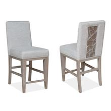 See Details - Counter Chair w/Upholstered Seat and Back (2/ctn)