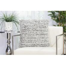 "Shag Dl058 Silver 20"" X 20"" Throw Pillow"