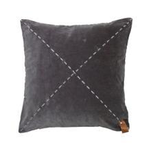 20x20 Velvet Malory Pillow Gray