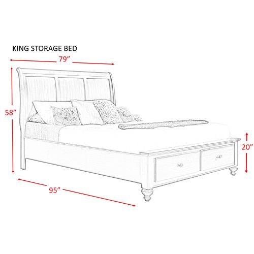 Chatham King Storage Bed
