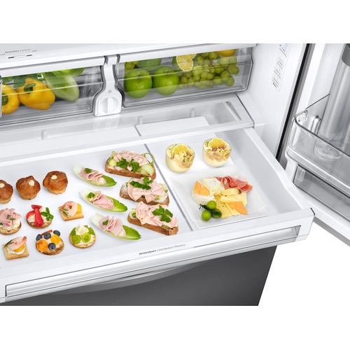 28 cu. ft. 3-Door French Door, Full Depth Refrigerator with Food Showcase in Stainless Steel