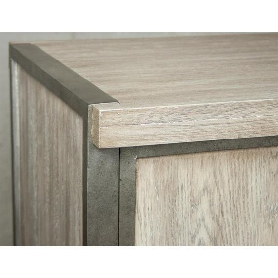 Riverside - Sophie - Sofa Table With Backless Upholstered Stools - Natural Finish