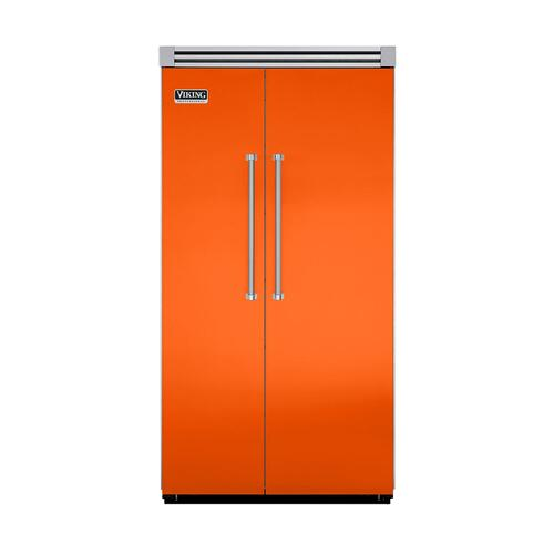 "Viking - Pumpkin 42"" Quiet Cool™ Side-by-Side Refrigerator/Freezer - VISB Tru-Flush™ (42"" wide)"
