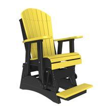 See Details - 2 Adirondack Balcony Glider Chair, Yellow-black