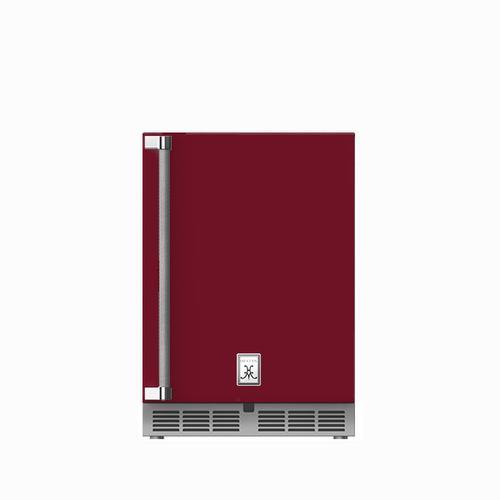 """24"""" Hestan Outdoor Undercounter Refrigerator (Solid Door) - GRSR Series - Tin-roof"""