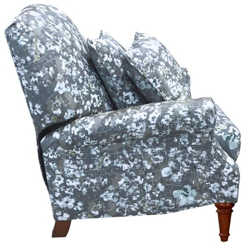 Blue Floral Pushback Recliner with Matching Pillows