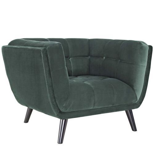 Bestow 2 Piece Performance Velvet Armchair Set in Green