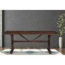 Hanover Annecy Rectangular Mango Wood Dining Table with Trestle Base, 76-In. W x 36-In. D x 30-In. H, HDR004-WB