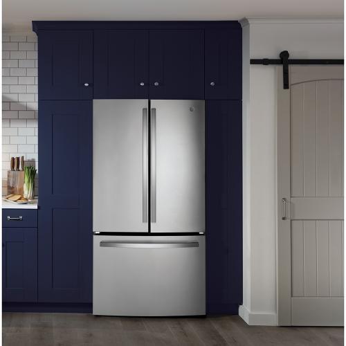 GE® Energy Star® 27.0 Cu. Ft. French-Door Refrigerator Fingerprint Resistant Stainless Steel - GNE27JYMFS