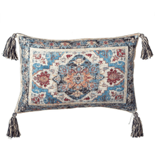 Antique Medallion Pillow with Tassels