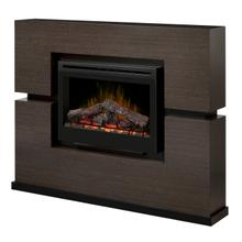 See Details - Dimplex Linwood Mantel Electric Fireplace With Logs
